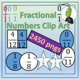 Fractional Numbers Clip Art for Commercial Use Bundle!