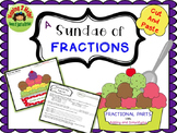 Fractional Part Ice Cream Sundae - Finding Fractional Parts of a Whole