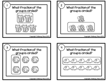 Fractional Part of a Group Task Cards - Pet Shop Theme