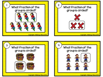 Fractional Part of a Group Task Cards - Pirate Theme
