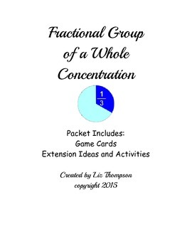 Fractional Part of the Whole Concentration Game