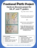 Fractional Parts Project - multiplying fractions, art, get