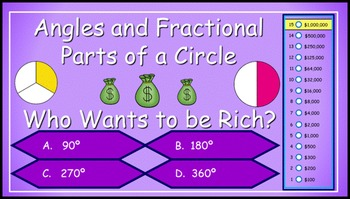 Fractional Parts of a Circle / Angles in a Circle Milliona