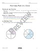 Fractional Parts of a Circle Math Video and Worksheet