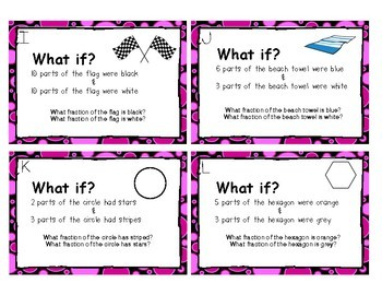 Fractional Parts of a Whole Task Cards