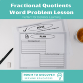 Fractional Quotients Word Problem Digital Slides Activity