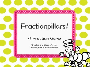 Fractionpillars- A Task Card Fraction Game!