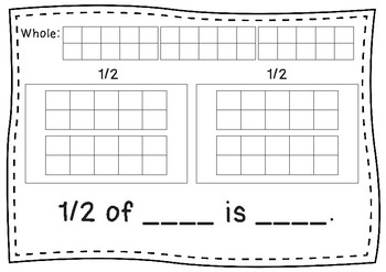 Fractions 1/2 and 1/4 Mat