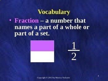 Common Core 4th - Fractions 1 - Review of Fraction Basics