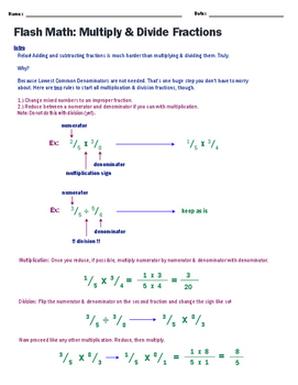 Fractions 102: Multiplying and Dividing