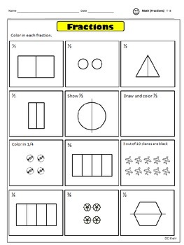 Fractions 1st-2nd Grade