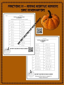 Halloween Math Fractions