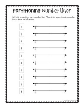 Fractions on a Number Line - 3rd Grade Print & Go Pack for 3.NF.A.2