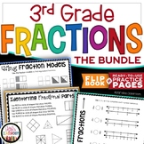 Fractions 3rd Grade - A Complete Unit with Fractions Activities and Flipbook