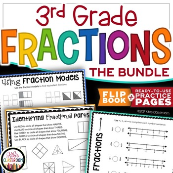 Fractions 3rd Grade - A Complete Unit with Fractions Activ