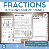 Fractions Printables Games and Posters