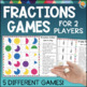 Fractions Activities, Games, Task Cards, & Math Centers Bundle 3rd Grade