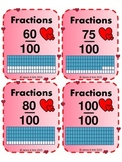 Valentine's Day - Fractions Cards