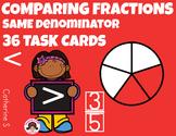 Comparing Fractions Task Cards - Same Denominator