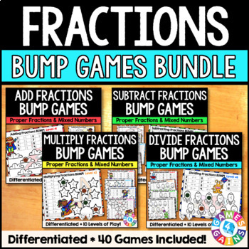 Fraction Operations: A Fractions Games Bundle