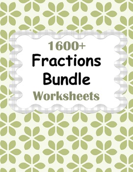Fractions Worksheets Bundle