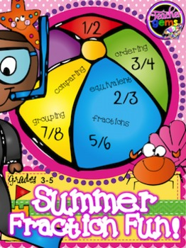 Fractions Coloring Activities and Math Center Summer Edition