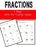 Fractions 2 Worksheets Basic Write the Fraction Shown