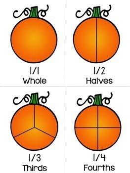 Pumpkin Math Centers: Fractions