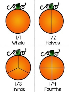 Pumpkin Math Centers FRACTIONS