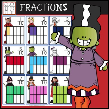 Halloween Fractions Task Cards