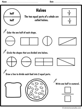 Fraction Worksheets and Activities for Grade 1 and 2 by ...