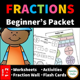Fraction Worksheets and Activities for Grade 1 and 2 | Distance Learning