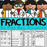 All About Fractions! No Prep Fractions Printables Math Pack