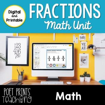 No Prep Fraction Unit, Third Grade