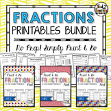 Fractions Printables Bundle: 4th Grade Common Core Aligned