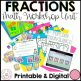 Understanding Fractions and Equivalent Fractions Math Workshop Unit
