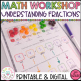 Understanding Fractions and Equivalent Fractions Math Work
