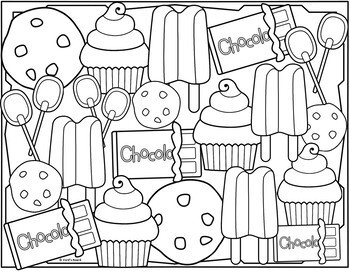 Basic Fractions and Equivalent Fractions Coloring Pages