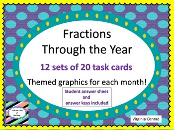 Fractions--240 Task Cards for Through the Year