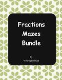 Fractions Mazes Bundle
