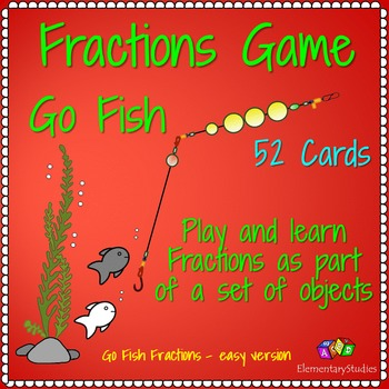 Fraction Go Fish Game and Cards