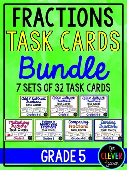 Fractions Task Card Bundle