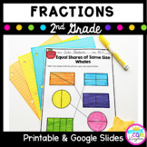 Fractions- Partitioning Circles and Rectangles- 2nd Grade Common Core 2.G.A.3