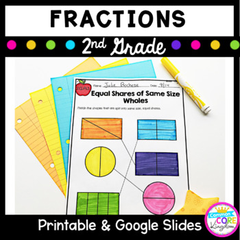 math worksheet : fractions partitioning circles and rectangles 2nd grade common  : 2nd Grade Fractions