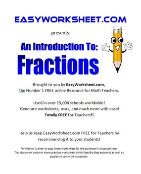 Fractions 3-8+ Grade Common Core!