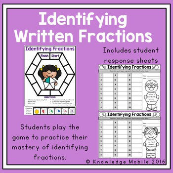 Fractions Task Cards and Center Game - 3.NF.1