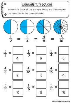 Simple Fractions – 35 printables