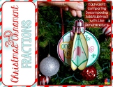 Fractions 3D Christmas Ornament
