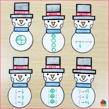 Fractions 3D Snowman