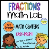 Fractions 3rd Grade Math Centers